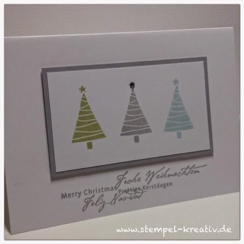 Stempel kreativ karten gestalten - Weihnachtskarten kreativ ...