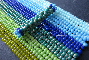 Attaching a Clasp to a Beadwork Cuff