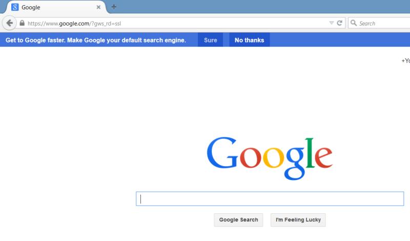 Google Search Firefox