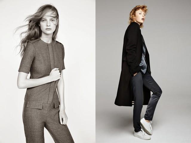 abrigo gris y abrigo negro