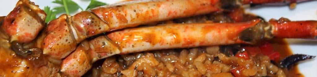 Arròs amb potes de cranc vermell