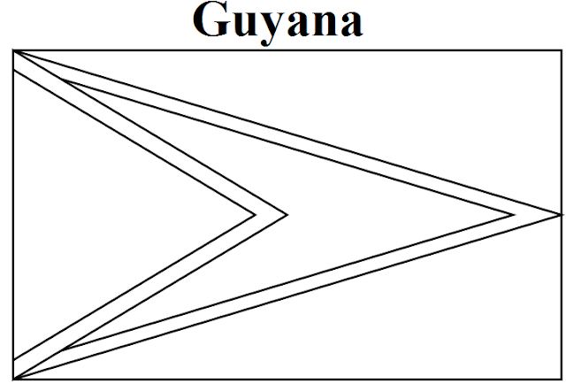Geography Blog Guyana Flag Coloring Page Guyana Flag Coloring Page