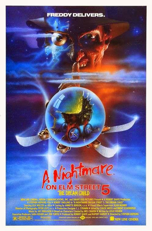 Poster Of A Nightmare on Elm Street 5: The Dream Child (1989) Full Movie Hindi Dubbed Free Download Watch Online At Alldownloads4u.Com