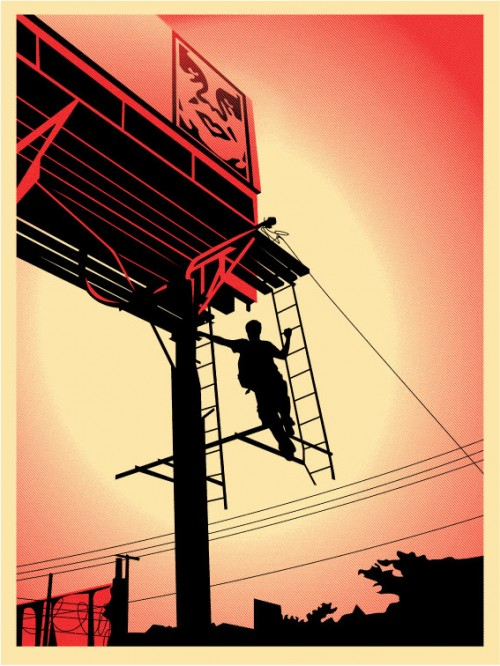 "Obey Giant ""Bayshore Billboard"" Screen Print by Shepard Fairey"