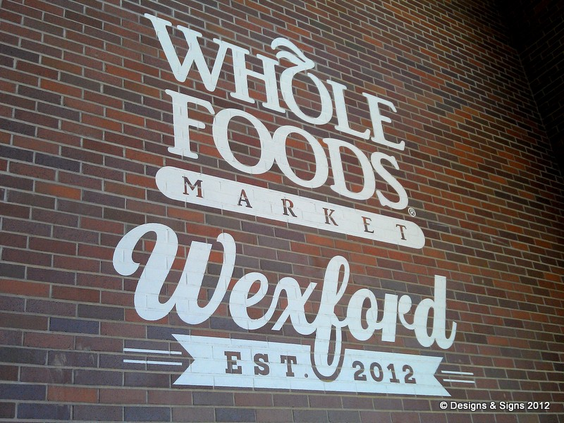 architectural mural - whole foods wexford
