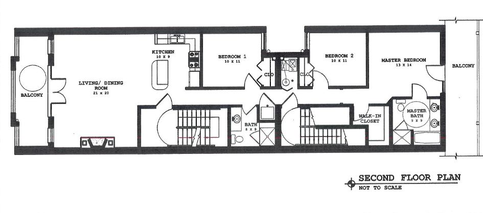 37 N. Morgan #2 Floorplan