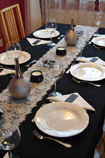 January DInner Party table