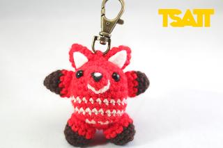 Amigurumi fox keychain crochet pattern