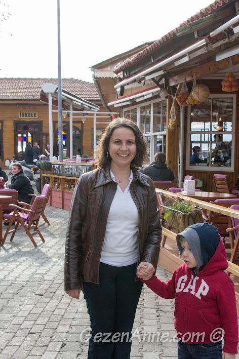 Anadolu Kavağı'nda dolaşırken