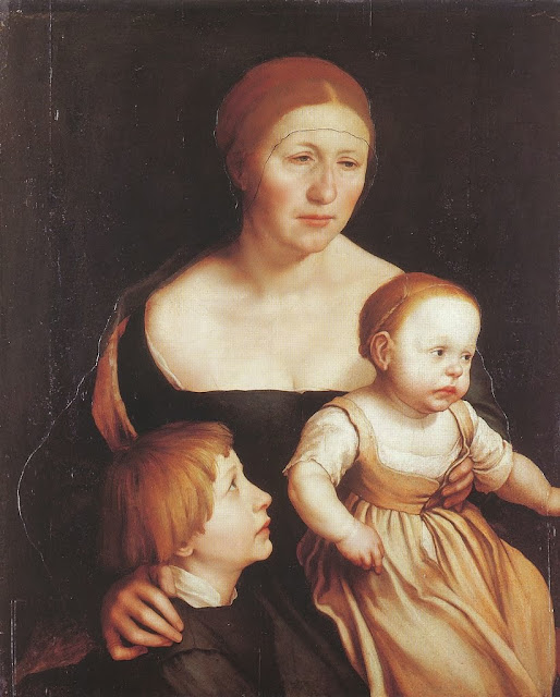 Hans Holbein the Younger - The Artist's Family, c. 1528