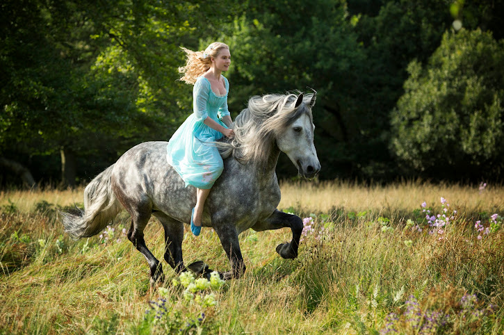 "Lily James in Disney's Live-Action ""Cinderella"""