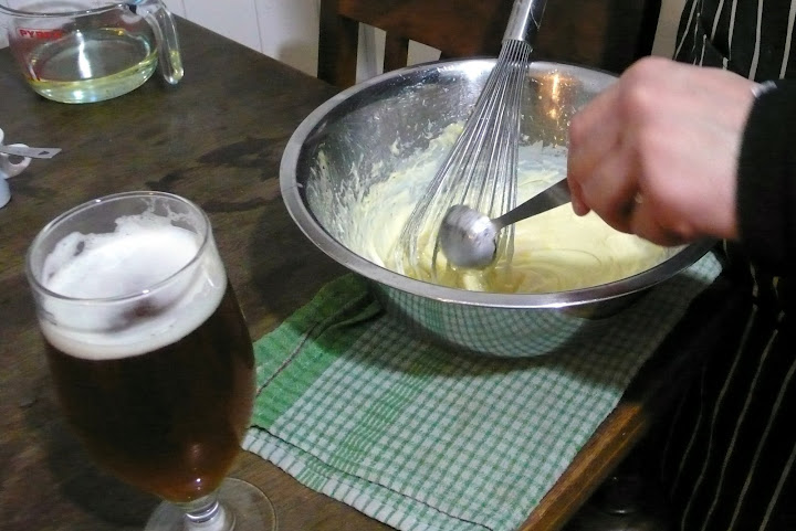 Add beer a tablespoon at a time...
