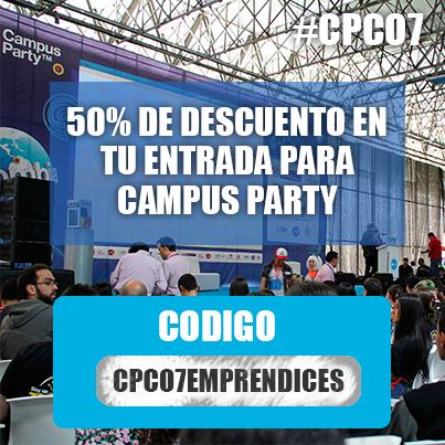 Compra tu entrada para Campus Party Colombia con el 50% de descuento