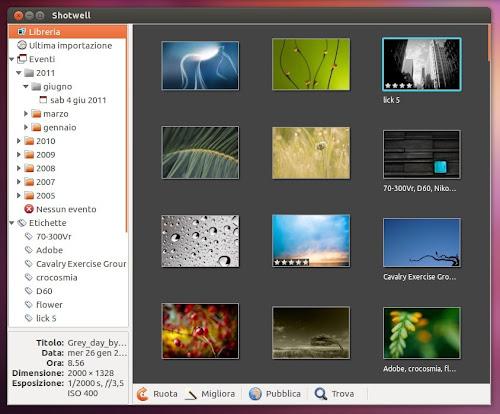 Shotwell su Ubuntu