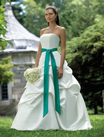 Wedding dresses simple wedding dresses prom dresses a for White and green wedding dress