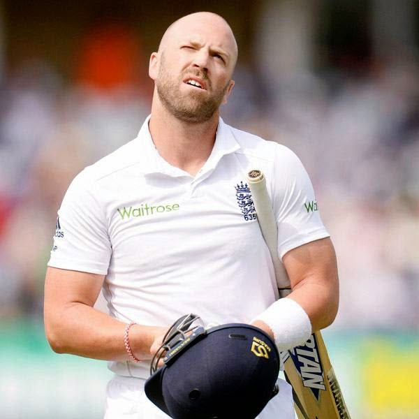 England's Matt Prior leaves the field after being dismissed during the first cricket test match against India at Trent Bridge cricket ground in Nottingham, England July 11, 2014.