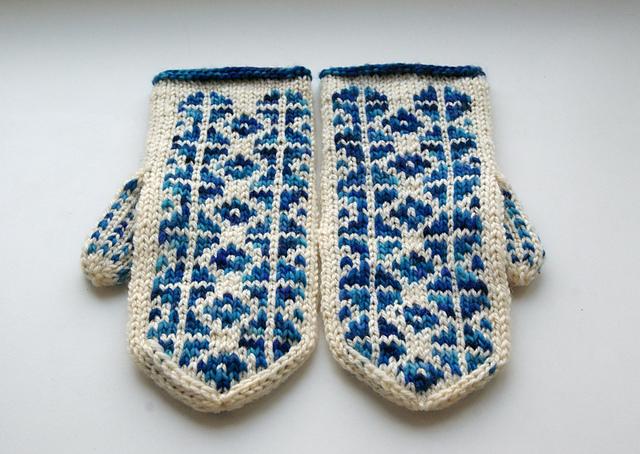 manoplas guantes punto colores
