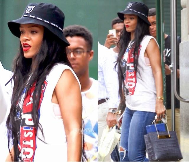 Rihanna in Trapstar, Lanvin