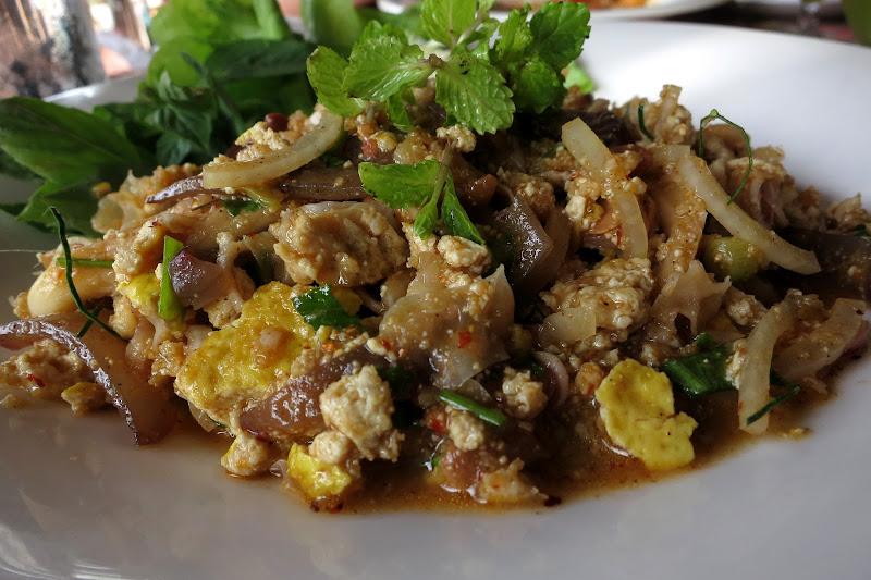 Tofu mushroom salad