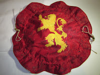 Example custom mini bag with stencil - House Lannister