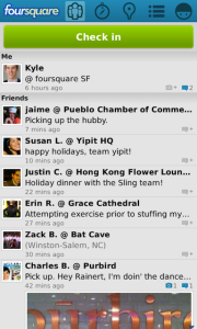 Foursquare v5.5 BlackBerry