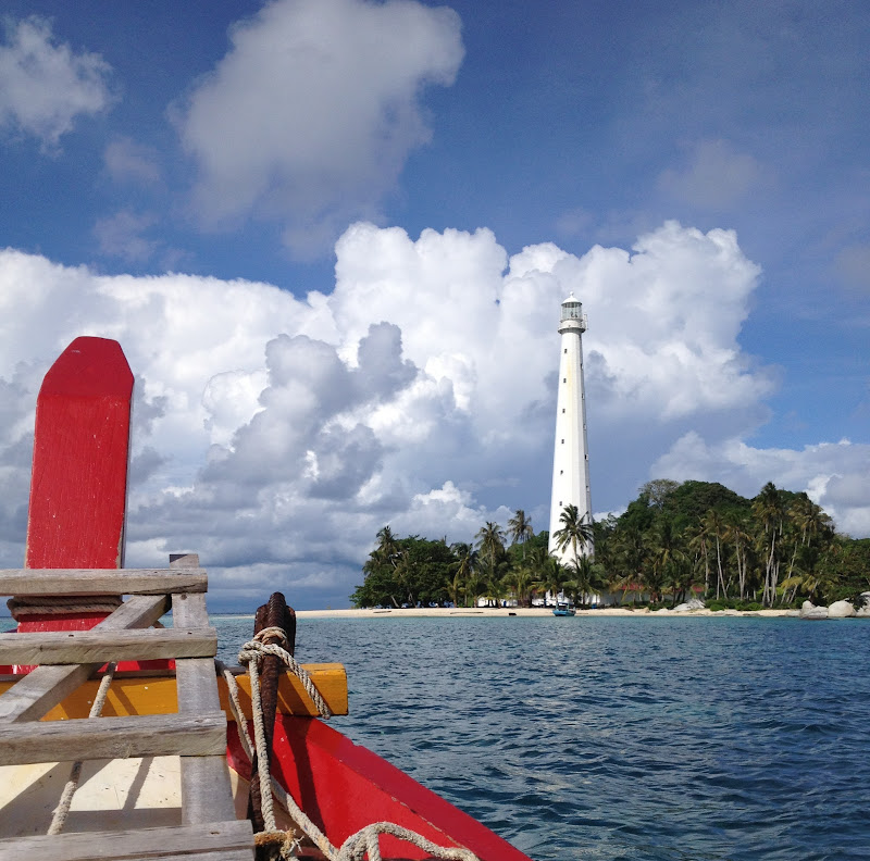 Light house on Lengkuas Island, Belitung.