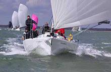 J/109 sailing Warsash spring series