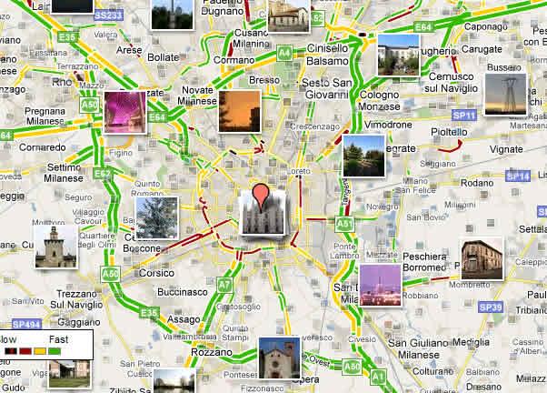 Resultado de imagen de mapa turistico milan
