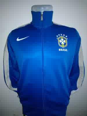 Jual Jaket Brazil Warna Biru Putih