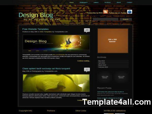 Web Design Blog CSS Website Template