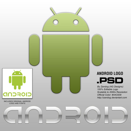 Logo Android download psd