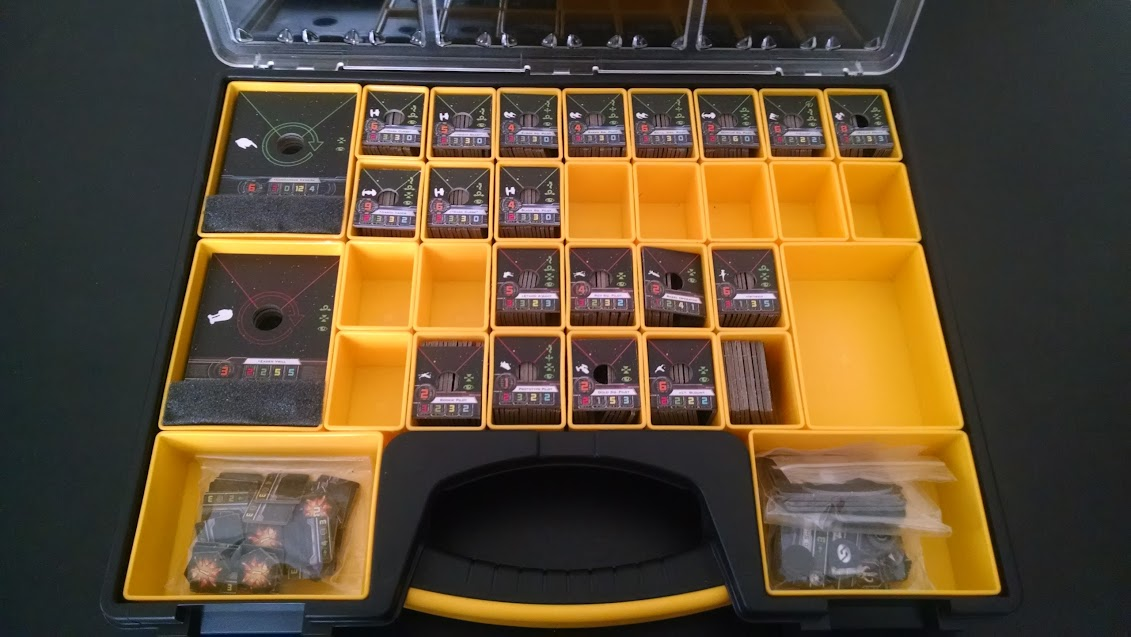 X-Wing Pilot and Upgrade Tray