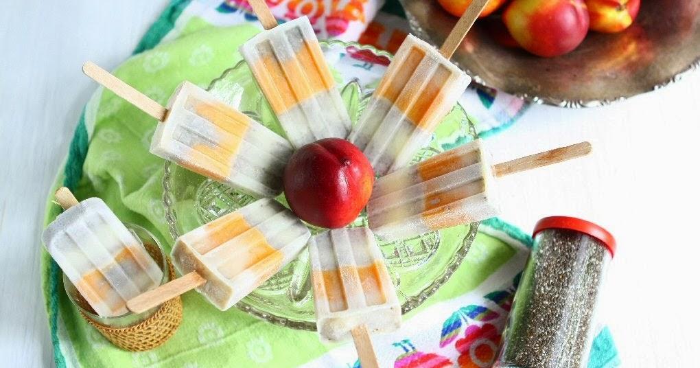 Chia Seed Nectarine Popsicles (Gluten-free, Dairy-free, Vegan)