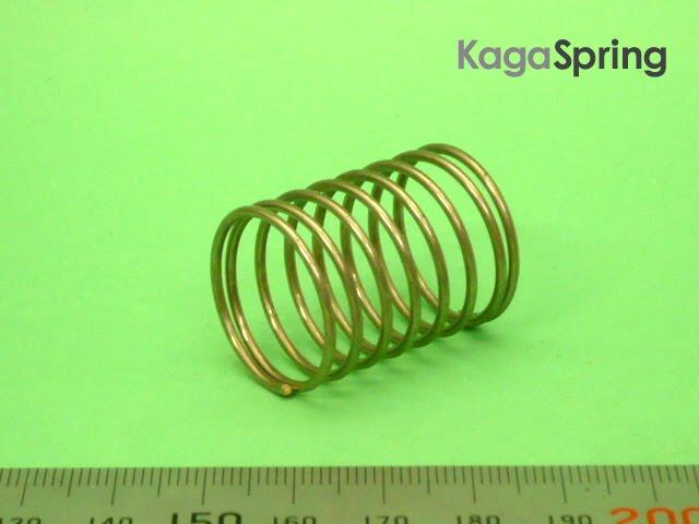 SUSΦ1.4×中心径22×有6×座各1×高30圧圧縮バネ