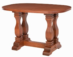 Dane Kitchen Table in Pecan Oak, 48″ x 32″ x 30″