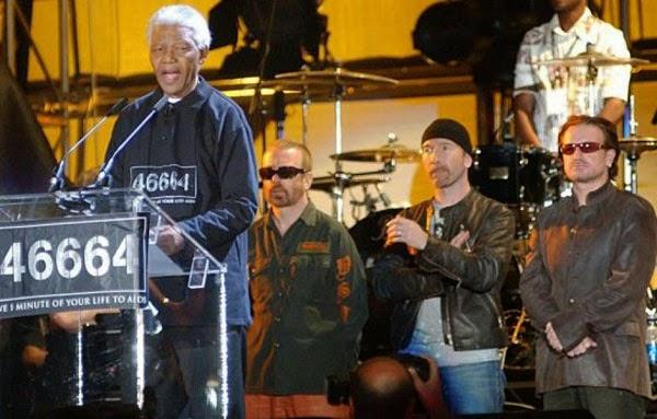 Discurso de Nelson Mandela en el concierto 46664 en Sudáfrica, con Bono, The Edge y Dave Stewart