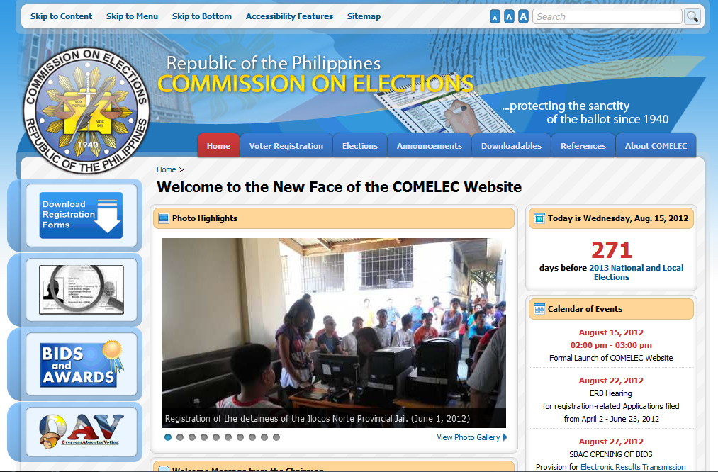 Comelec Website Got a New Look