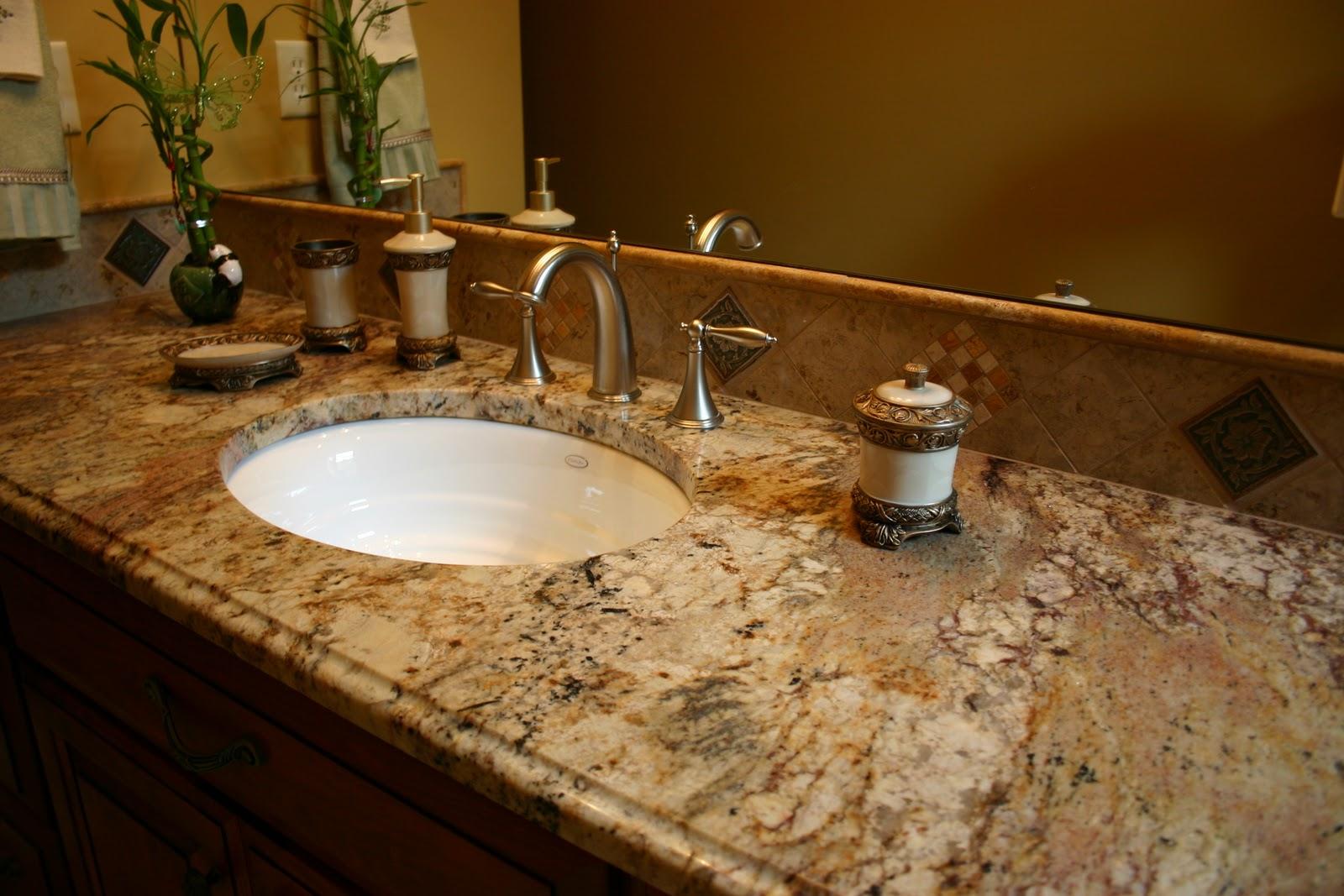The granite gurus bathroom vanities from our portfolio for Granite vanity tops for bathrooms