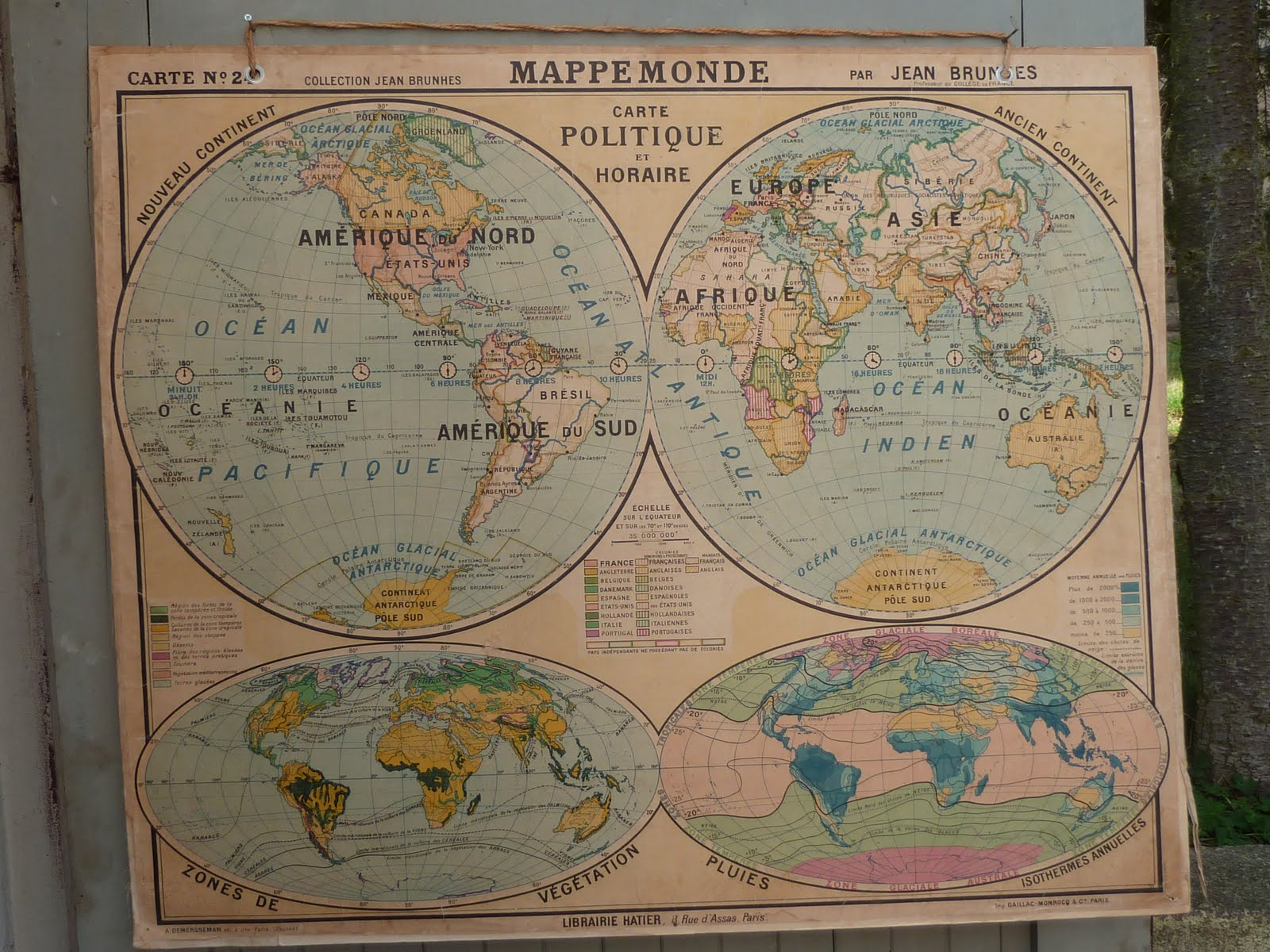 Pull down world map like this item customized world map poster french antique world map used in classroom sold gumiabroncs Image collections