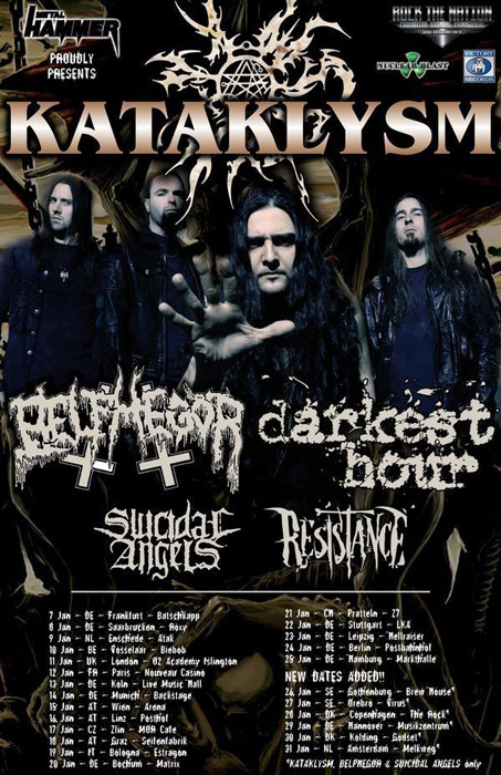Kataklysm - European Tour 2010 mit Belphegor, Darkest Hour, Suicidal Angels und Resistiance (Garage, Saarbrücken)