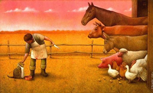 Dibujo realizado por el artista polaco Pawel Kuczynski