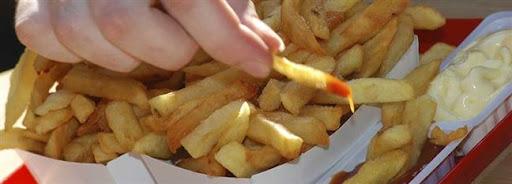 Bruselas Valonia: Patatas fritas solas o con mayonesa o ketchup