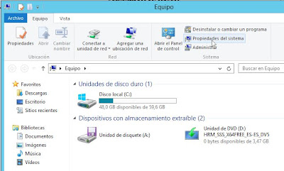 Cambiar nombre de red hostname de equipo con Windows Server 2012
