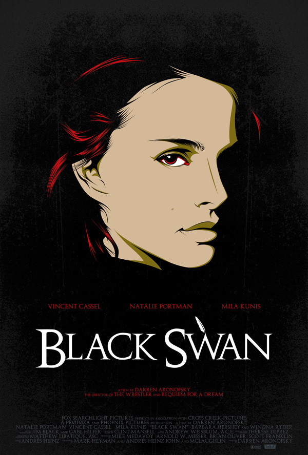 cinema issue minimalist movie poster black swan