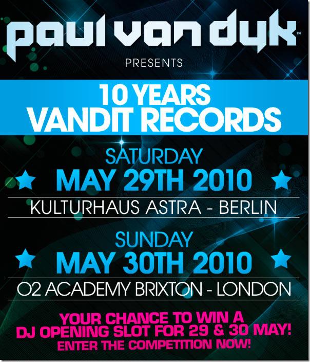 Paul van Dyk - 10 years Vandit Records