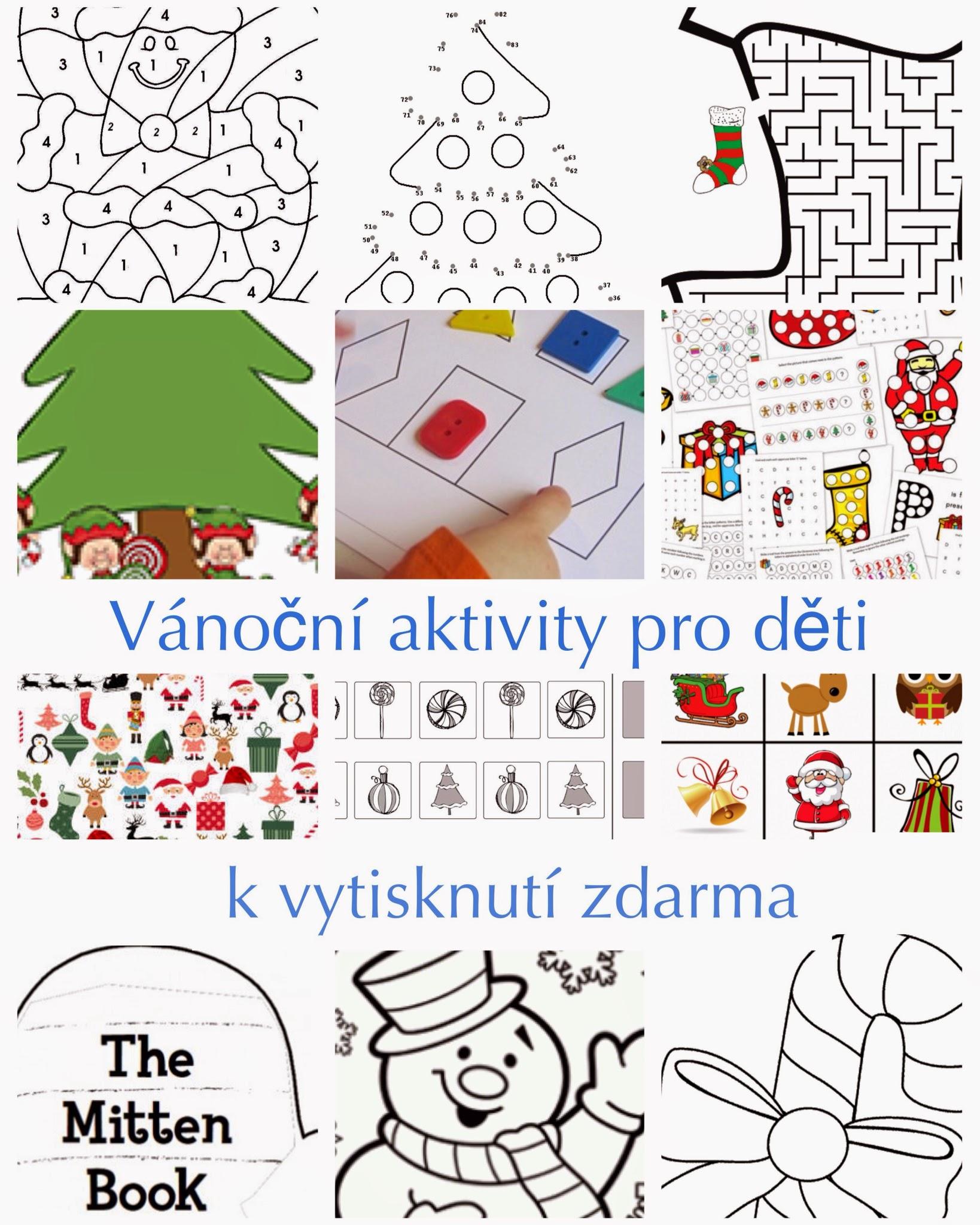 Vanocni Pracovni Listy Pro Male Deti K Vytisknuti Zdarma
