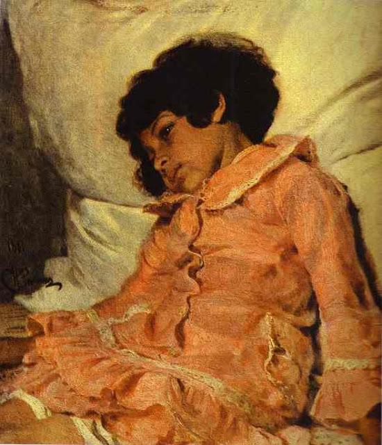 Ilia Repin - Portrait of Nadya Repina, the Artist's Daughter