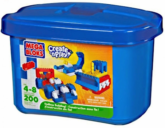 Bộ đồ chơi Mega Bloks Create 'n Play 200-Piece Endless Building! Set giúp trẻ tăng khả năng tư duy không gian