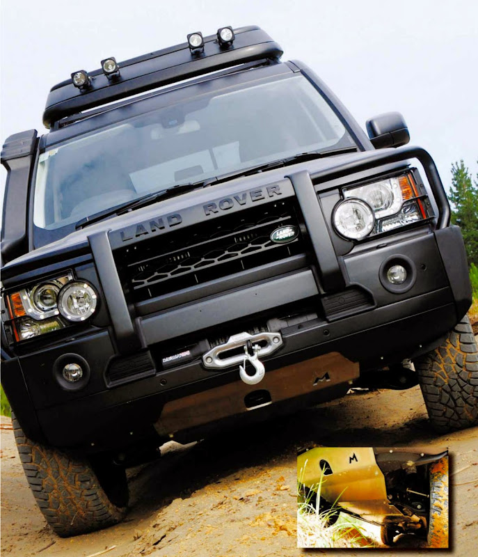 Winch Bumper With Led Lights By Rovers North For Discovery: The Land Rover 2014 Discovery 4 Extreme Is Personalized To