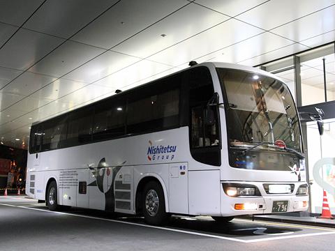 西鉄高速バス「桜島号」夜行便 3802 鹿児島中央駅にて